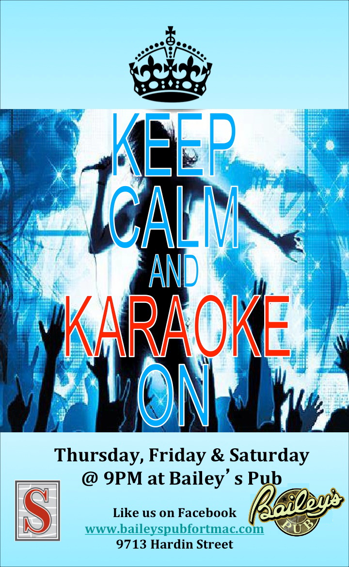 Baileys Thursday and Saturday Karaoke